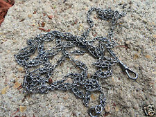 ANTIQUE VICTORIAN FRENCH 80-900 SILVER LONG WATCH GUARD MUFF CHAIN 55""