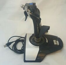 Saitek Cyborg Evo Joystick Pc Usb Flight Stick Gaming Video Force Ps24