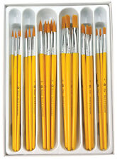 30 pc Paint Brushes Golden Taklon Classroom Pack BULK