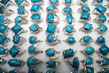 Fashion Jewelry wholesale lots 50pcs lines small gemstone&silver p Women's rings