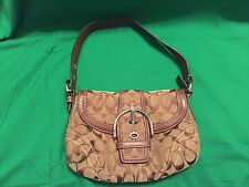 COACH Soho Signature Handbag Brown