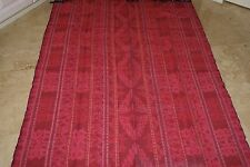 Hand woven textile geometric motifs vintage Ikat Liquidation hot pink thick warm