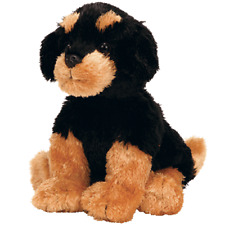 "Ty Beanie Boos 6-8"" BRUTUS the Rottweilers Black Dog Boo Soft Toy Plush NWMT New"
