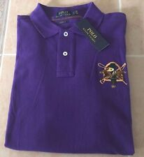 Authentic POLO Ralph Lauren Equestrian Polo Shirt Mens Large Purple Big Pony New
