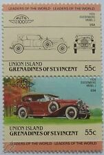 1929 DUESENBERG MODEL J Car Stamps (Leaders of the World / Auto 100)