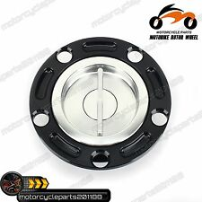 CNC Quick Release Keyless Racing Fuel Gas Cap For EBR 1190RX 1190 RS ALL YEARS