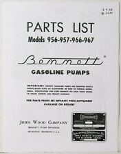 Bennett 900 Series Gas Pump Parts Manual BK-BEN900MANUAL