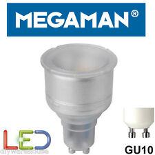 MEGAMAN GU10 LED 5 WATT WARM WHITE 2800K 15,000 HOUR EQUIV BR0711i 74MM X 50MM