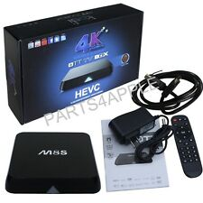 Unlocked 4K M8S QUAD Core Android 4.4 Smart TV Box Media Player programmed