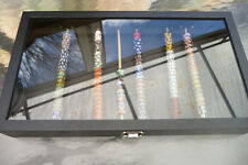 Holds 200 Plus artisan murano beads Craft show BLACK glass Display storage box