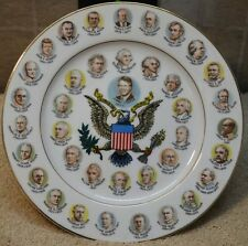 Decorative Commemorative Plate, 200 Years of Presidents, Jimmy Carter 1977