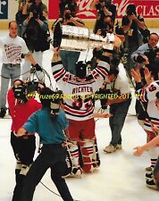 MIKE RICHTER Lifts 1994 STANLEY CUP 8x10 Photo NEW YORK RANGERS 1st Since 1940 !