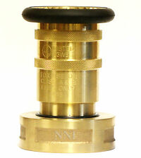"NNI 2-1/2"" NST NH Fire Hose Brass Bronze Adjustable Fog Nozzle UL Listed"