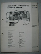 Imperial S/W TV Chassis M 100 service manual