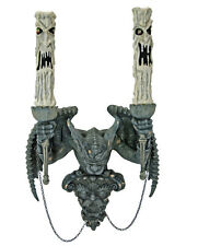 28-628123 Katherine's Collection Gargoyle Wall Candelabra Sconce Halloween Decor