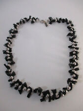 Lee Angel Faux Pearl Black Neck Statement Necklace NWT $259