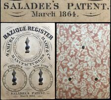 1864 Authentic CW American Playing Cards Saloon Dial Register Wild West Counter