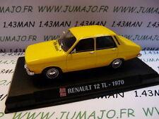Voiture 1/43 IXO AUTO PLUS : RENAULT 12 TL 1970 jaune