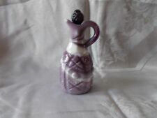 Imperial Glass Purple Slag Cruet Blue Black Grape Stopper