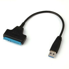 "USB 3.0 To SATA 22 Pin 2.5"" Hard Disk Driver SSD Adapter Converter Cable 10cm UK"