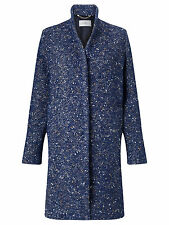 Marella ( Max Mara) Women's Blue Ibis Wool blend Tweed Coat UK 12 NEW was £280