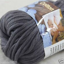 Sale New 1 Skein x 50g Soft 100% Cotton Chunky Super Bulky Hand Knitting Yarn 32