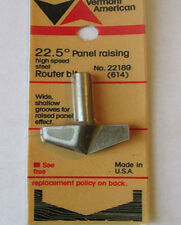 22.5 DEGREE PANEL RAISING HSS ROUTER BIT Vermont American 22189 Factory Sealed!