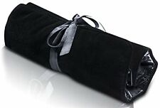 Soloportis Jewelry Organizer Travel Roll Up Bag, Black Velvet With Zipper Compar