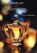 PUBLICITE GUERLAIN PARFUM SHALIMAR FLACON JADE JAGGER DE 2010 FRENCH AD PUB