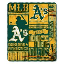 "NEW MLB  Oakland Athletics ""Strength"" Fleece Throw Blanket 50""x 60"""