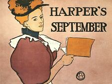 STYLE MAGAZINE HARPER'S SEPTEMBER USA VINTAGE RETRO ADVERTISING POSTER 1514PYLV