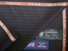 DORMEUIL 70% SUPER 140's &30% KIRGYZ WHITEⓇ WOOL SUITING FABRIC BY Dormeuil-3.4m