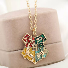 Harry Potter Magic School Badge Pendant Necklace Western Jewelry For Fans Kids