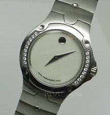 Womens Swiss Movado Diamond Bezel SE Sports Edition Mother Of Pearl Dial Watch