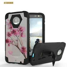 Shockproof Rugged Dual Layer Case w/Stand Cover for Motorola Models