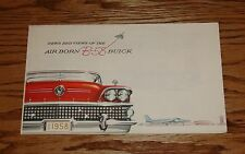 1958 Buick Air Born B-58 Sales Brochure 58