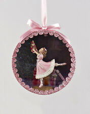 KURT ADLER NUTCRACKER SUITE SHADOW BOX-CLARA DANCING w/NUTCRACKER XMAS ORNAMENT