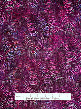 Abstract Purple Pink Cotton Fabics Red Rooster Iridescent Water Collection Yard