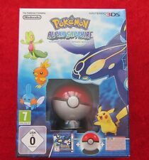 Pokemon Alpha Saphir Edition mit Pokeball + Poster, 3D Nintendo 3DS Spiel, Neu