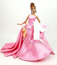 Eaki Pink Delphine Evening Dress Outfit Gown Silkstone Barbie Fashion Royalty FR