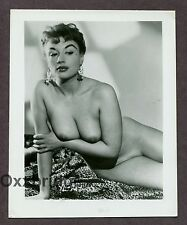PAMELA GREEN Nude Model UK Burlesque Star Dancer 1950 ORIGINAL PINUP PHOTO B1193