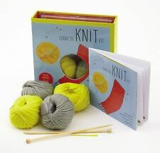Learn to Knit Kit: Includes Needles and Yarn for Practice