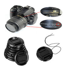 Useful 49mm Front Lens Cap Snap-on Cover  &String for Canon Nikon Sony Camera