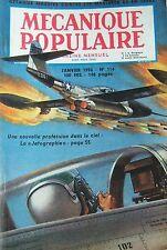 REVUE MECANIQUE POPULAIRE N° 116 AVIATION CHEMIN DE FER CHRYSLER RADIO 1956