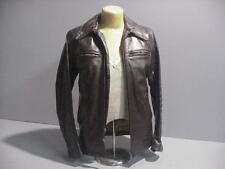 BATES  LEATHER MATES CUSTOM BROWN JACKET SMALL WITH ZIP'N LINER