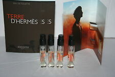 New Lot of 4 Terre D'Hermes by Hermes EDT Eau de Toilette Spray Samples Vial 2ml