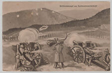 1915 Germany WW 1 Artillery in Battle Picture Postcard Cover Feldpost
