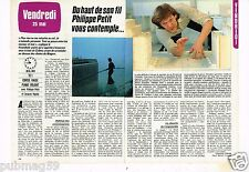 Coupure de presse Clipping 1984 (2 pages) Philippe Petit