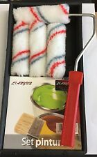 PAINT EMULSION ROLLER TRAY SET WITH 1 ROLLER HANDLE AND 4 SLEEVES