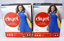 (2) Boxes Lot Dryel At-Home Dry Cleaner Starter Kits Breezy Scent 2 Loads Each!